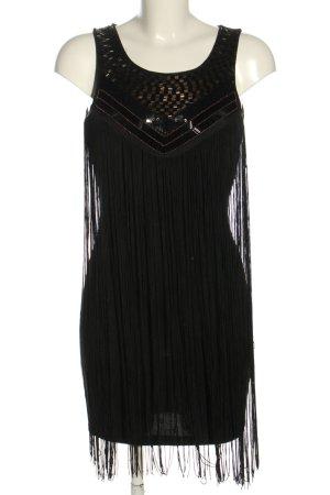 Danity Minikleid schwarz-goldfarben Casual-Look