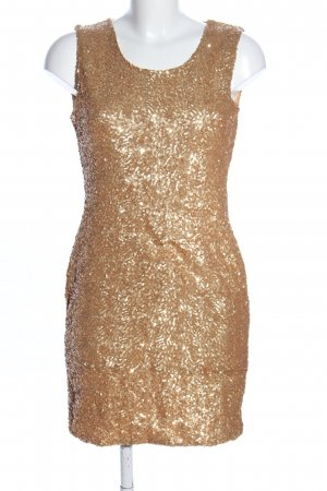 Danity Sequin Dress gold-colored glittery