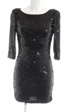 Danity Sequin Dress black party style