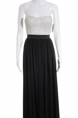 Danity schulterfreies Kleid schwarz-hellgrau Elegant