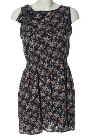 Danity Robe d'été bleu-rose imprimé allover style décontracté