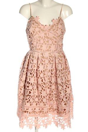 Danity Vestido de encaje marrón-rosa Poliéster