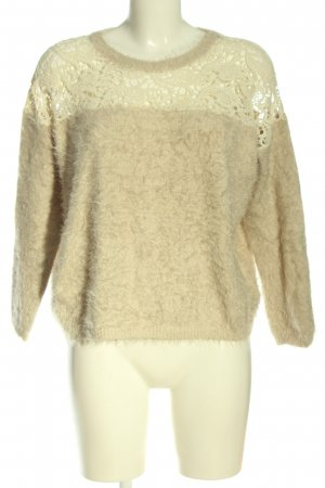 Danity Knitted Sweater cream casual look
