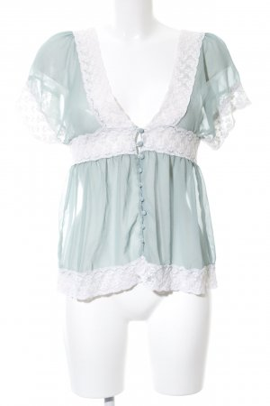 Danity Transparent Blouse white-turquoise casual look