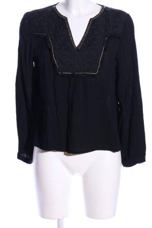 Danity Tunikabluse schwarz grafisches Muster Elegant