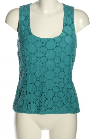 Dannenmann Sleeveless Blouse turquoise casual look