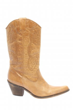 Danny Western Boots brown casual look