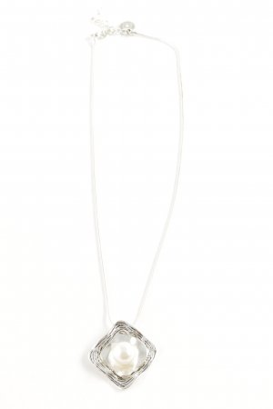 Dansk Halskette weiß Elegant