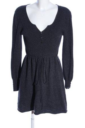 Dany Smith Vestito di lana blu puntinato stile casual