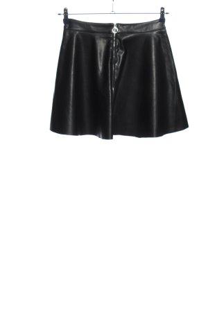 Daphnea Faux Leather Skirt black extravagant style