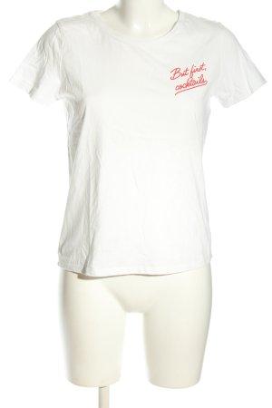 Daphnea T-Shirt weiß-rot Casual-Look