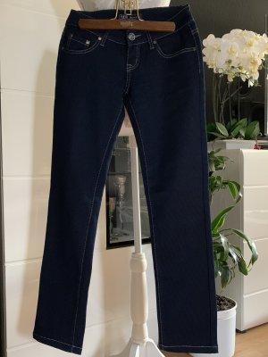 Classic Skinny Jeans dark blue-silver-colored cotton