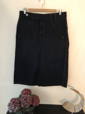 Campus by Marc O'Polo Denim Skirt dark blue cotton