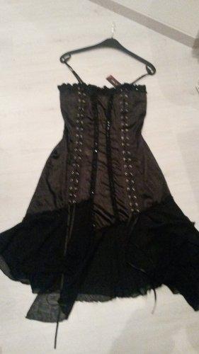 Robe à corsage noir-argenté