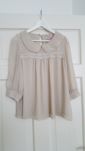Darling Transparent Blouse oatmeal polyester