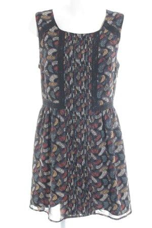 Darling Chiffon Dress abstract pattern casual look