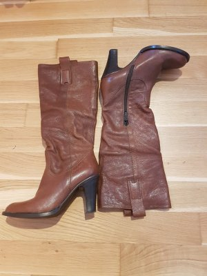 Darling Harbour Jackboots brown leather