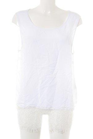 Darling Harbour Blusa senza maniche bianco elegante