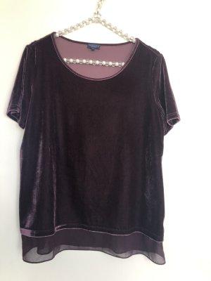 Darling Harbour Short Sleeved Blouse blackberry-red-purple