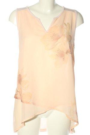 Darling Harbour Blouse topje nude-room bloemenprint casual uitstraling