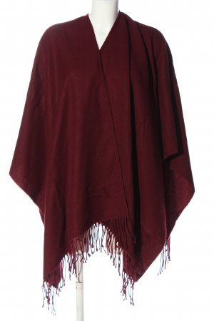 Darling Harbour Poncho rot Casual-Look