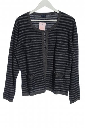 Darling Harbour Cardigan blue-light grey striped pattern casual look