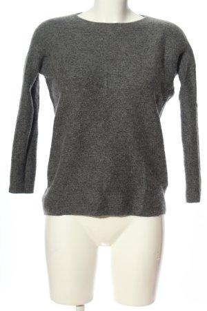 Darling Harbour Pullover in cashmere grigio chiaro puntinato stile casual
