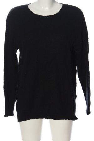 Darling Harbour Kasjmier trui zwart casual uitstraling