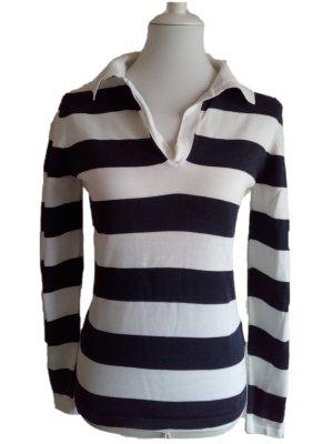 Darling Harbour Koszulka polo ciemnoniebieski-biały Bawełna