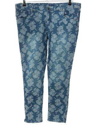 Darling Harbour Spodnie z pięcioma kieszeniami niebieski-biały W stylu casual