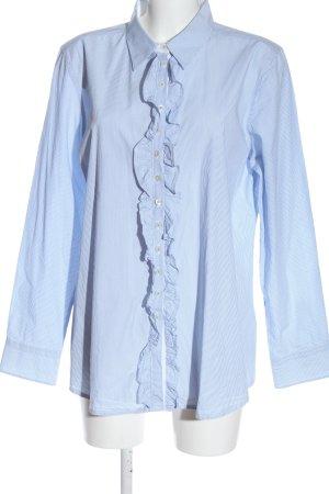 Darling Harbour Hemd-Bluse blau-weiß Allover-Druck Casual-Look