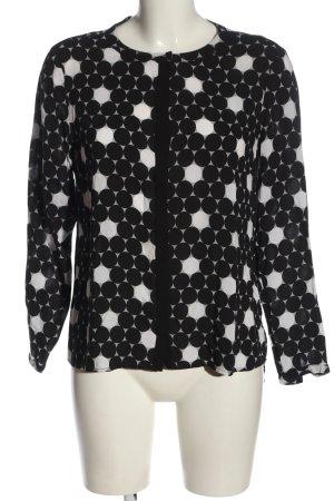 Darling Harbour Hemd-Bluse schwarz-weiß Allover-Druck Casual-Look