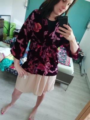 Darling Harbour Kimono Samt Netz Jacke