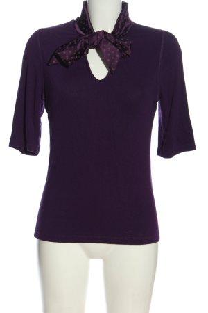 Darling Harbour T-Shirt lila Punktemuster Casual-Look