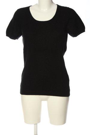 Darling Harbour Sweter z krótkim rękawem czarny W stylu casual