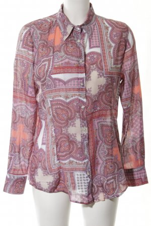 Darling Harbour Langarm-Bluse Allover-Druck Casual-Look