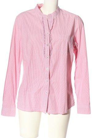 Darling Harbour Camicia a maniche lunghe rosso-bianco stampa integrale