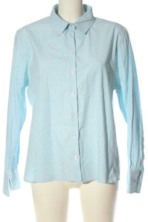 Darling Harbour Langarmhemd blau-weiß Streifenmuster Business-Look
