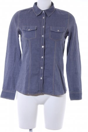 Darling Harbour Long Sleeve Shirt azure flecked casual look