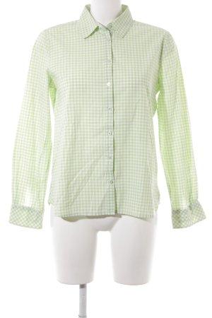 Darling Harbour Langarmhemd wiesengrün-weiß Karomuster Casual-Look