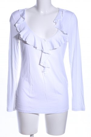 Darling Harbour Ruche blouse wit casual uitstraling