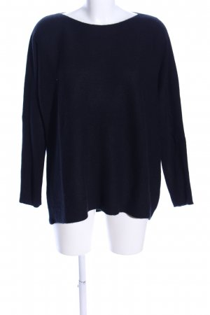 Darling Harbour Crewneck Sweater black business style