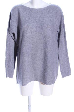 Darling Harbour Crewneck Sweater light grey flecked casual look
