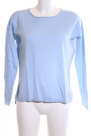 Darling Harbour Rundhalspullover blau Casual-Look