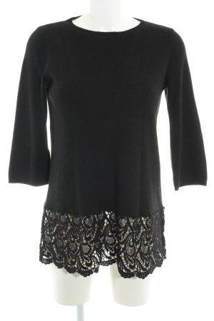 Darling Harbour Rundhalspullover schwarz Elegant