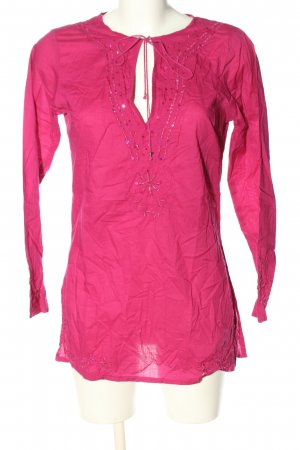 Darling Harbour Schlupf-Bluse pink abstraktes Muster Casual-Look