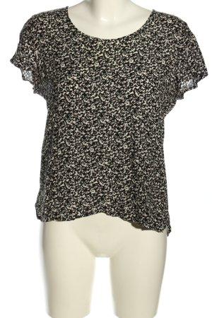 Darling Harbour Schlupf-Bluse schwarz-weiß abstraktes Muster Casual-Look