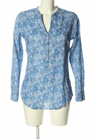 Darling Harbour Schlupf-Bluse blau grafisches Muster Casual-Look