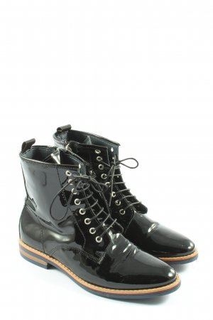Darling Harbour Lace-up Booties black casual look