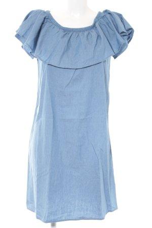Darling Harbour schulterfreies Kleid kornblumenblau Jeans-Optik